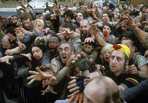Zombies in Shaun of the Dead