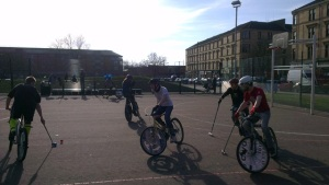Bike Polo - exactly as you'd imagine