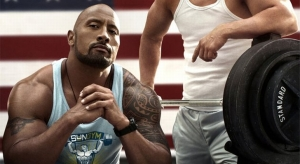 Dwayne 'The Rock' Johnson in Pain and Gain. It's not out until August, but who's going to argue with him?